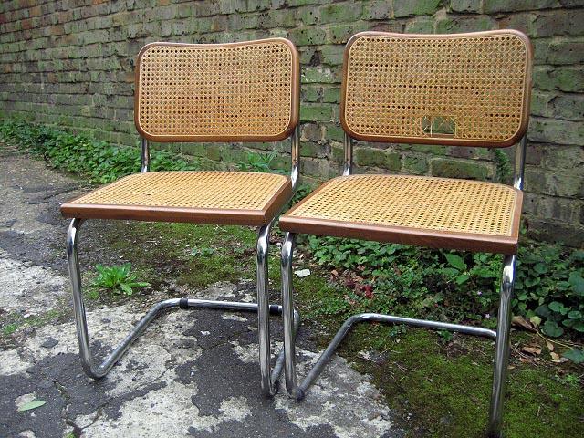 Bauhaus chairs holes - Details About 2x Marcel Breuer Cesca Dining Chair Bauhaus Chrome Lot2